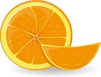 πορτοκαλιά φέτα ελεύθερη απεικόνιση δικαιώματος