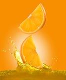 πορτοκαλιά φέτα Στοκ φωτογραφίες με δικαίωμα ελεύθερης χρήσης