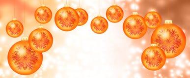 Πορτοκαλιές σφαίρες Χριστουγέννων Στοκ φωτογραφίες με δικαίωμα ελεύθερης χρήσης