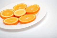 πορτοκαλιές φέτες κύκλω& Στοκ Φωτογραφία