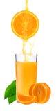 πορτοκαλιές φέτες χυμού Στοκ φωτογραφία με δικαίωμα ελεύθερης χρήσης