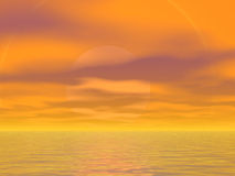 πορτοκαλιοί ουρανοί Στοκ Φωτογραφίες