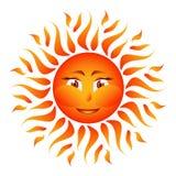 Πορτοκαλής ήλιος στο άσπρο διάνυσμα υποβάθρου Στοκ φωτογραφίες με δικαίωμα ελεύθερης χρήσης