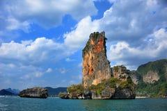 Πορτοκαλής απότομος βράχος στην Ταϊλάνδη Στοκ φωτογραφίες με δικαίωμα ελεύθερης χρήσης