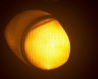 Πορτοκαλής ηλέκτρινος φωτεινός σηματοδότης Στοκ φωτογραφίες με δικαίωμα ελεύθερης χρήσης