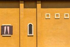 Πορτοκαλής ισπανικός τοίχος Στοκ Εικόνες