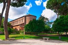 Πορτοκαλής κήπος στο Hill Aventine στη Ρώμη Ιταλία στοκ εικόνα
