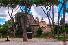 Πορτοκαλής κήπος στο Hill Aventine στη Ρώμη στοκ φωτογραφίες
