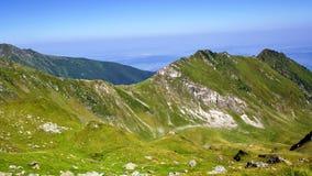 πορτοκαλής ουρανός πανοράματος βουνών φίλτρων στοκ φωτογραφίες με δικαίωμα ελεύθερης χρήσης