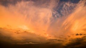πορτοκαλής ουρανός Στοκ Εικόνα