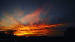 πορτοκαλής ουρανός Στοκ Εικόνες