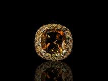 Πορτοκαλής πολύτιμος πολύτιμος λίθος Στοκ φωτογραφία με δικαίωμα ελεύθερης χρήσης