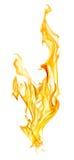 Πορτοκαλής σπινθήρας πυρκαγιάς που απομονώνεται στο λευκό Στοκ φωτογραφία με δικαίωμα ελεύθερης χρήσης