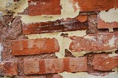 πορτοκαλής τοίχος τούβλου ανασκόπησης Στοκ φωτογραφία με δικαίωμα ελεύθερης χρήσης