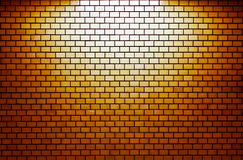 Πορτοκαλής τουβλότοιχος με το επίκεντρο Στοκ φωτογραφία με δικαίωμα ελεύθερης χρήσης