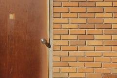 Πορτοκαλής τουβλότοιχος Στοκ φωτογραφία με δικαίωμα ελεύθερης χρήσης