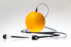 Πορτοκαλής φορέας μουσικής Στοκ φωτογραφία με δικαίωμα ελεύθερης χρήσης