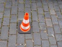 Πορτοκαλής rexlexive κώνος οδικών σημαδιών Στοκ φωτογραφία με δικαίωμα ελεύθερης χρήσης