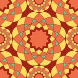 Πορτοκαλί άνευ ραφής σχέδιο μωσαϊκών Στοκ φωτογραφία με δικαίωμα ελεύθερης χρήσης