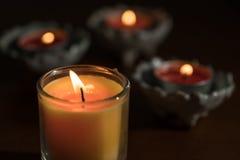Πορτοκαλί άρωμα κεριών Στοκ Εικόνα