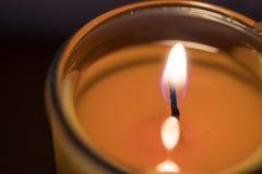 Πορτοκαλί άρωμα κεριών Στοκ Εικόνες