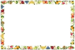 Πορτοκαλί αντίγραφο πλαισίων μπανανών πορτοκαλιών μήλων μήλων φρούτων copyspace Στοκ φωτογραφία με δικαίωμα ελεύθερης χρήσης