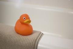 Πορτοκαλί λαστιχένιο Ducky Στοκ Φωτογραφία
