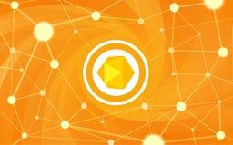 Πορτοκαλί αφηρημένο υπόβαθρο Στοκ Εικόνα