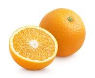 Πορτοκαλί εσπεριδοειδές με κατά το ήμισυ απομονωμένος στο λευκό Στοκ φωτογραφίες με δικαίωμα ελεύθερης χρήσης