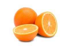 πορτοκαλί λευκό ανασκόπ&e πορτοκάλι μισών Στοκ φωτογραφία με δικαίωμα ελεύθερης χρήσης