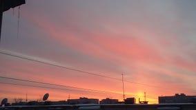 πορτοκαλί ηλιοβασίλεμα Στοκ Φωτογραφία