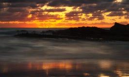 πορτοκαλί ηλιοβασίλεμα Στοκ Φωτογραφίες