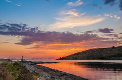 Πορτοκαλί ηλιοβασίλεμα Lilleby στοκ φωτογραφία με δικαίωμα ελεύθερης χρήσης