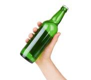 πορτοκαλί διάνυσμα απεικόνισης μπουκαλιών μπύρας ανασκόπησης Στοκ Εικόνες