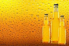 πορτοκαλί διάνυσμα απεικόνισης μπουκαλιών μπύρας ανασκόπησης Στοκ εικόνα με δικαίωμα ελεύθερης χρήσης