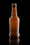 πορτοκαλί διάνυσμα απεικόνισης μπουκαλιών μπύρας ανασκόπησης Στοκ Φωτογραφίες