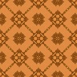 Πορτοκαλί διακοσμητικό άνευ ραφής σχέδιο γραμμών Στοκ Εικόνα