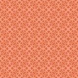 Πορτοκαλί διακοσμητικό άνευ ραφής σχέδιο γραμμών Στοκ εικόνα με δικαίωμα ελεύθερης χρήσης