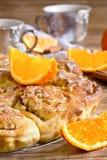 Πορτοκαλί κέικ κουλουριών Στοκ Εικόνα
