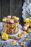 Πορτοκαλί κέικ σοκολάτας Στοκ φωτογραφία με δικαίωμα ελεύθερης χρήσης