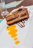 Πορτοκαλί κέικ σοκολάτας Στοκ εικόνα με δικαίωμα ελεύθερης χρήσης