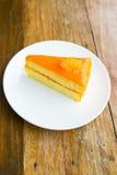 Πορτοκαλί κέικ Στοκ εικόνα με δικαίωμα ελεύθερης χρήσης