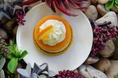 Πορτοκαλί κέικ Στοκ Εικόνες