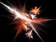 Πορτοκαλί και άσπρο αφηρημένο fractal ελαφρύ υπόβαθρο επίδρασης Στοκ Φωτογραφία