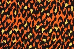 Πορτοκαλί και κίτρινο σχέδιο γουνών λεοπαρδάλεων Στοκ Φωτογραφίες
