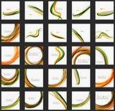 Πορτοκαλί και πράσινο σχέδιο γραμμών κυμάτων, eco φύσης Στοκ φωτογραφία με δικαίωμα ελεύθερης χρήσης