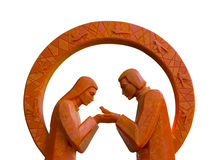 Πορτοκαλί κερί και αγάπη Στοκ φωτογραφία με δικαίωμα ελεύθερης χρήσης