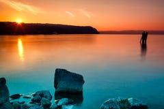 Πορτοκαλί κυανό ηλιοβασίλεμα Στοκ φωτογραφία με δικαίωμα ελεύθερης χρήσης