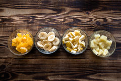 Πορτοκαλί μήλο ανανά bananna Στοκ φωτογραφία με δικαίωμα ελεύθερης χρήσης