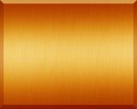 Πορτοκαλί μεταλλικό πιάτο Στοκ Φωτογραφία
